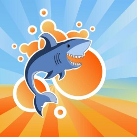 Happy Shark iPad Wallpaper