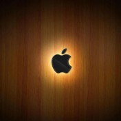 Hardwood Apple Logo iPad Wallpaper