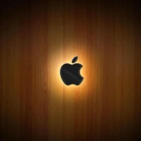 Hardwood Apple Logo iPad Wallpaper