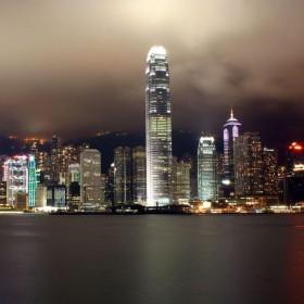 Hong Kong at Night iPad Wallpaper