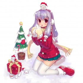 Anime Christmas iPad Wallpaper