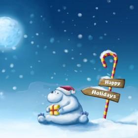 Happy Holidays iPad Wallpaper