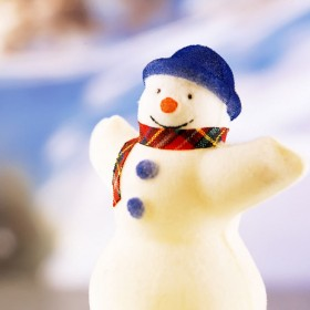 Happy Snowman iPad Wallpaper