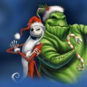 Jack Skellington Christmas iPad Wallpaper