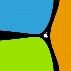 Joyful Apple Logo iPad Wallpaper