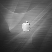 Metallic Apple Logo iPad Wallpaper