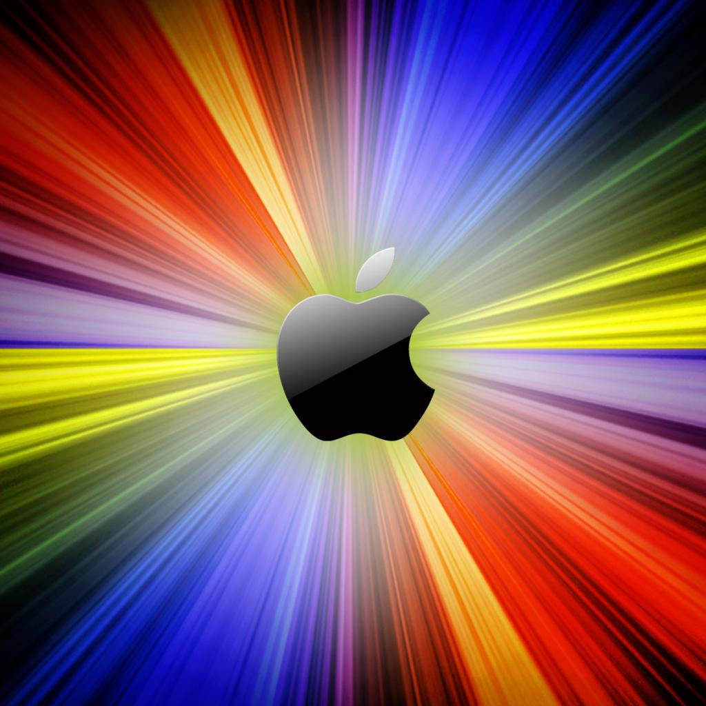 Multi Colored Apple Logo iPad Wallpaper | ipadflava.com