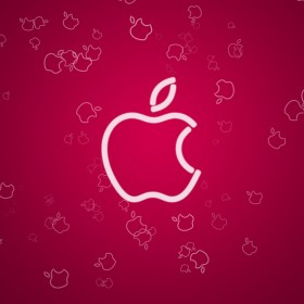 Neon Apple iPad Wallpaper