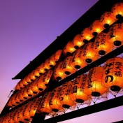 Oriental Lanterns iPad Wallpaper