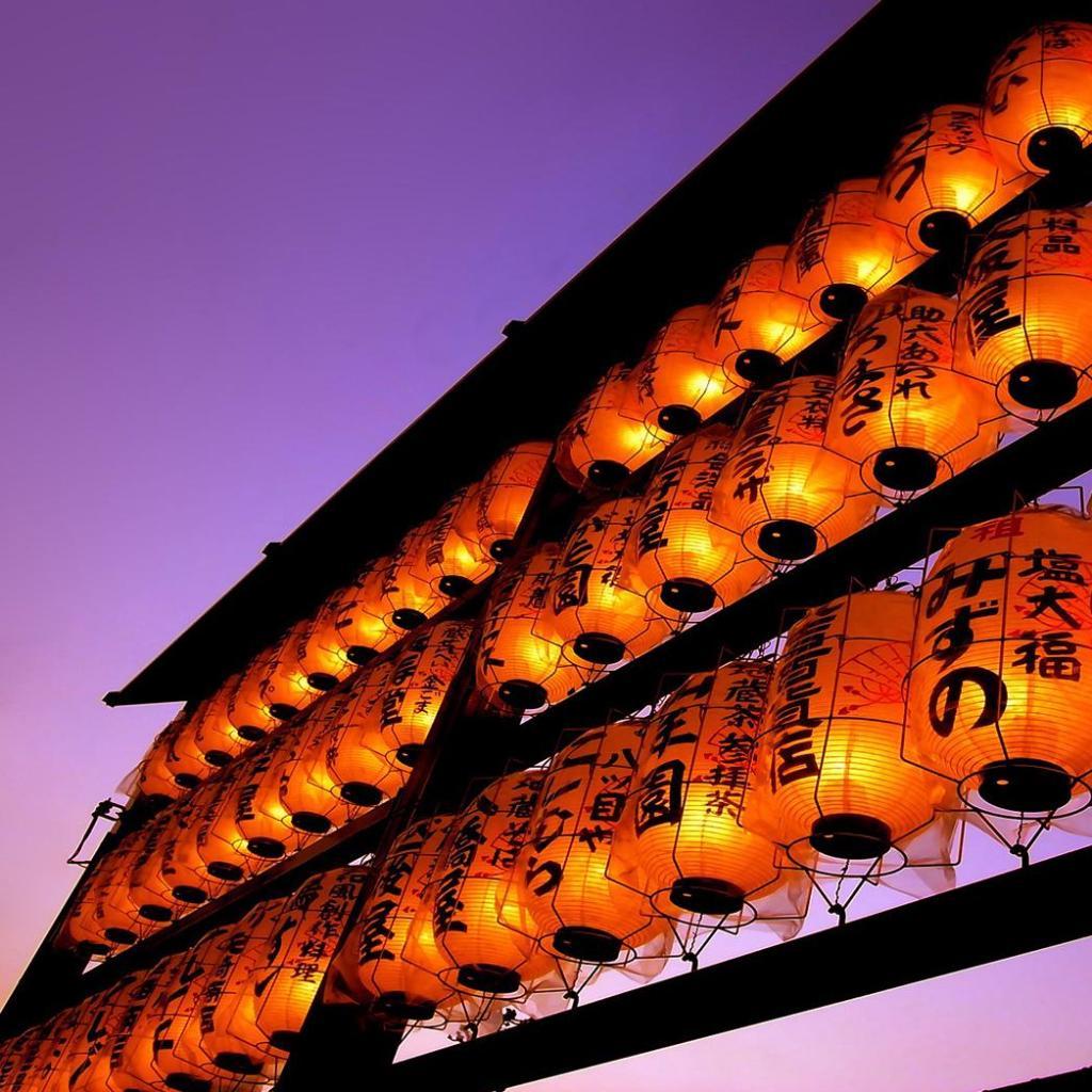 Oriental lanterns ipad wallpaper for Architecture orientale