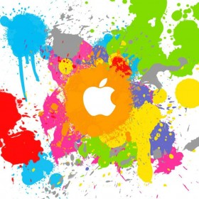 Paint Splatter iPad Wallpaper