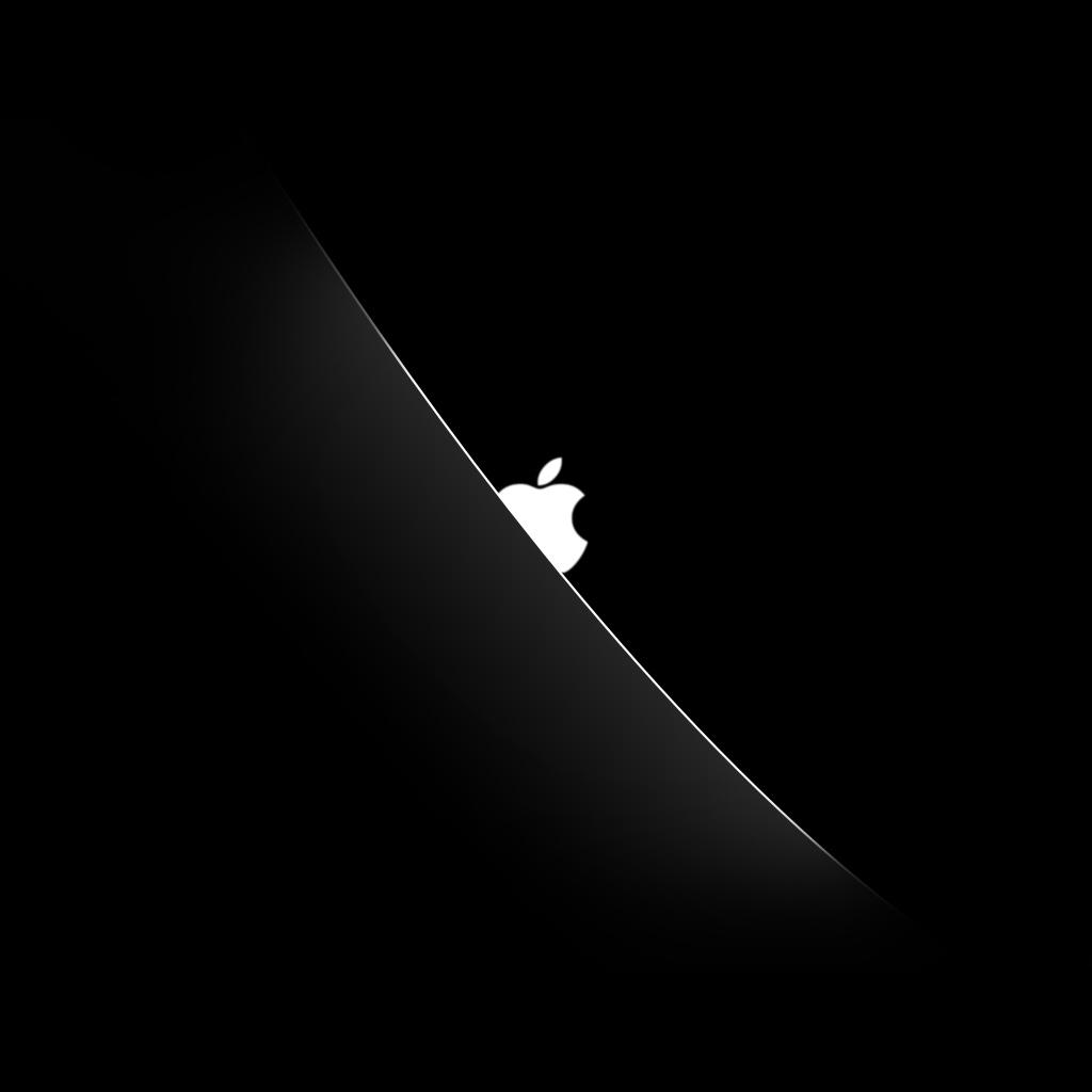 peeking apple logo ipad wallpaper ipadflavacom