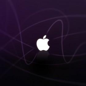 Purple Abstract Apple Logo iPad Wallpaper