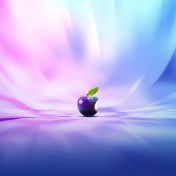 Purple Apple iPad Wallpaper