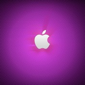 Purple Apple Logo iPad Wallpaper