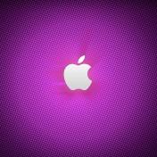 Purple Apple Logo iPad Wallpaper