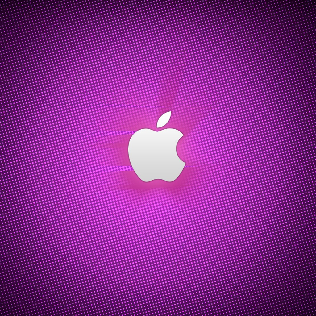 purple apple logo 4k - photo #12