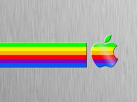 Retro Rainbow Logo iPad Wallpaper