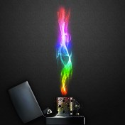 Rainbow Fire iPad Wallpaper