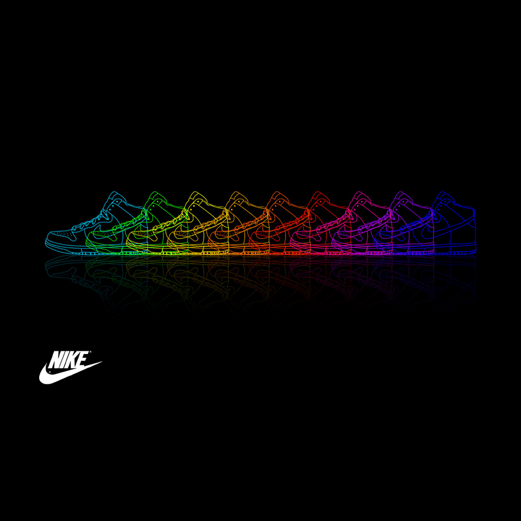 Nike Shoe Rainbow iPad Wallpaper