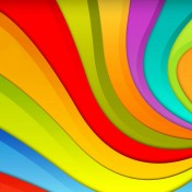 Rainbow Swirls iPad Wallpaper