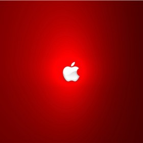 Red Apple iPad Wallpaper