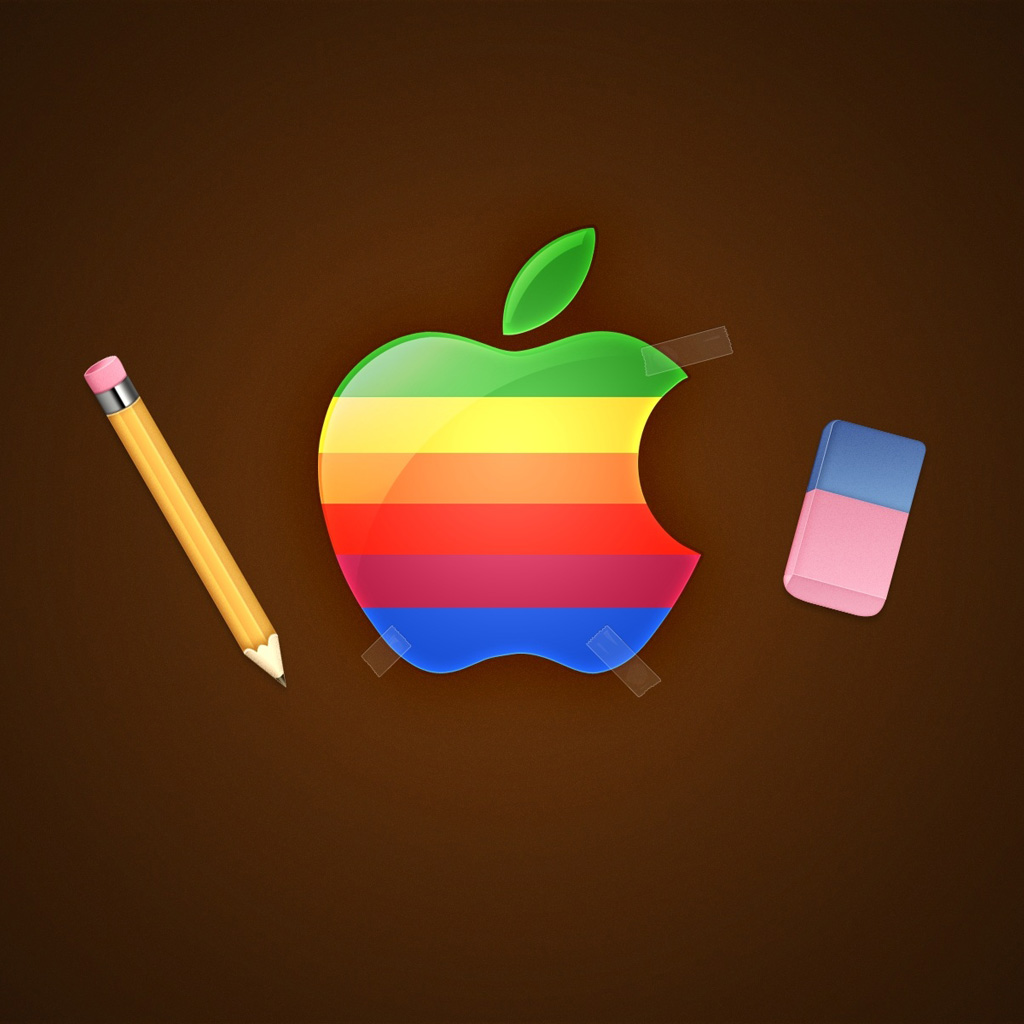 retro apple logo ipad wallpaper ipadflavacom