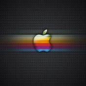 Retro Apple Logo iPad Wallpaper