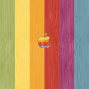 Retro Apple Wood iPad Wallpaper