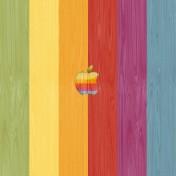 Retro Apple Wood iPad Wallpaper