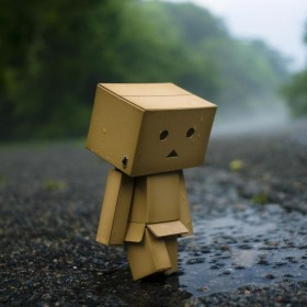 Sad Danbo iPad Wallpaper