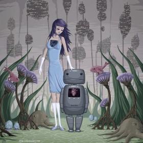 Sad Robot iPad Wallpaper