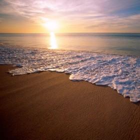 Sunset Beach iPad Wallpaper