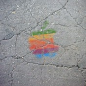 Sidewalk Apple Logo iPad Wallpaper