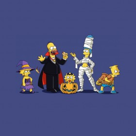 Simpsons Halloween iPad Wallpaper