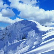 Snowy Mountains iPad Wallpaper