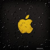 Water Drops Apple Logo iPad Wallpaper