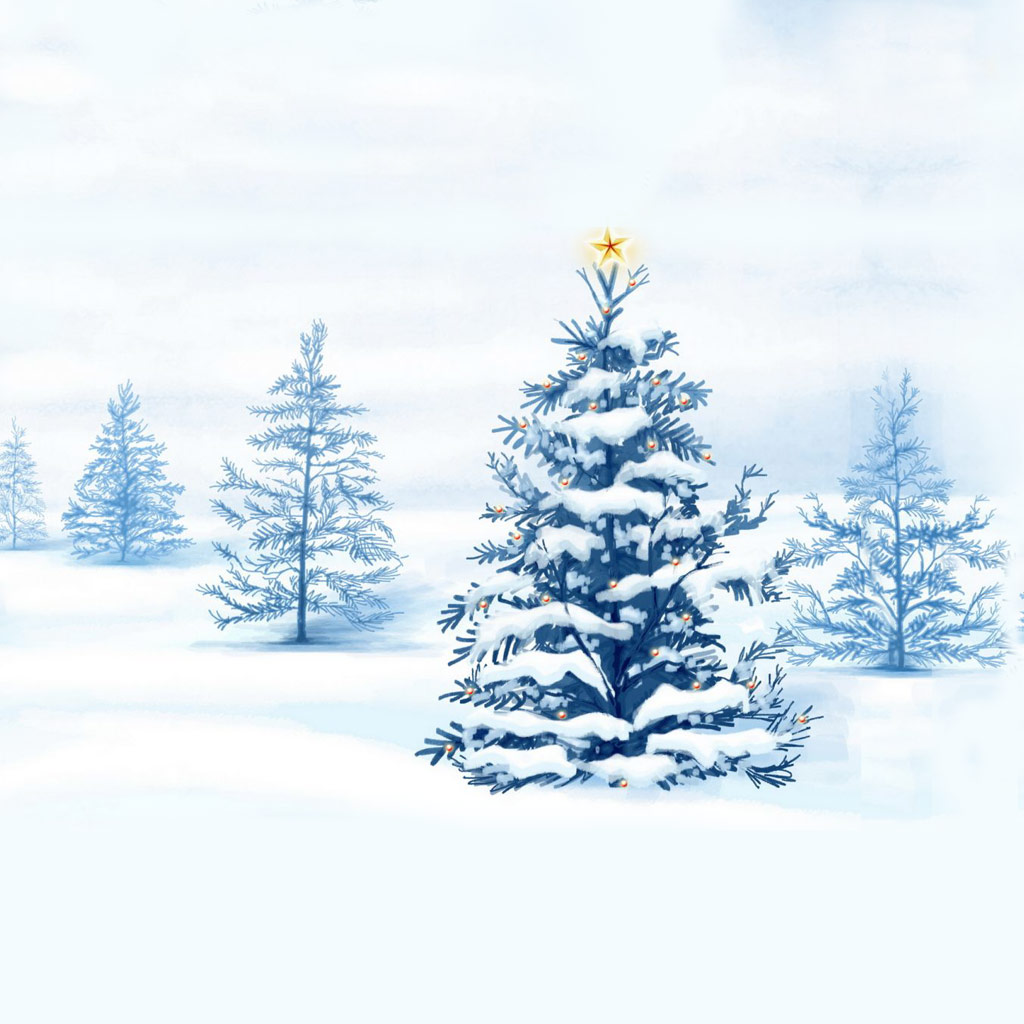 White Christmas IPad Wallpaper